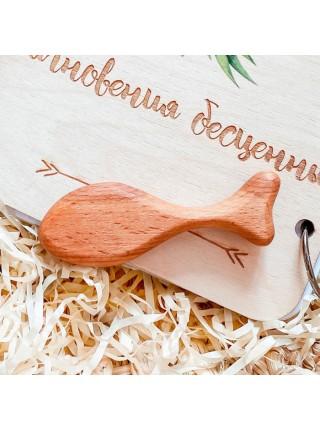 """Грызунок """"Рыбка"""" (Натуральное дерево) Леснушки L0101"""