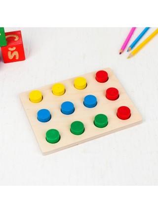"""Набор """"Цветные пеньки"""" Краснокамская игрушка Н-63 (с карточками)"""