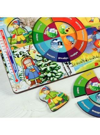 Обучающая доска Календарь природы, Мастер игрушек IG0003