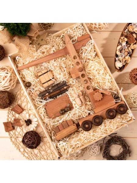 Подъёмный кран полный комплект в подарочной коробке, Леснушки