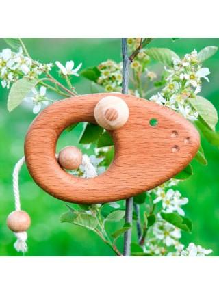 """Погремушка - Грызунок """"Мышонок"""" (Натуральное дерево)"""