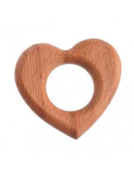 "Грызунок ""Сердечко"" (Натуральное дерево) Леснушки L0106"