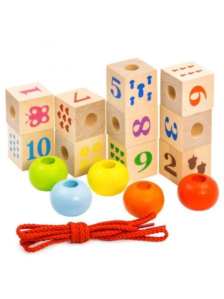 Шнуровка Алатойс, Кубики с печатью и шайбы изучаем счет
