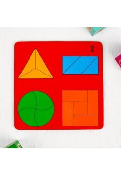 Геометрические головоломки для детей «Веселая геометрия» №2, Оксва