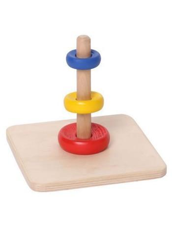 """Пирамидка с тремя кольцами разного диаметра и цвета """"Три кольца""""  купить"""