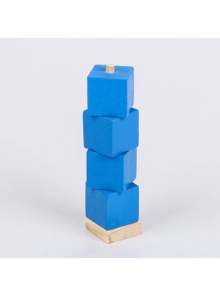 Пирамидка дидактическая с кубиками (Монтессори)