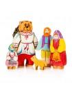Маша и медведь (5 фигур) Сказки дерева купить