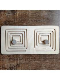 Межполушарная доска мини - деревянный лабиринт (квадрат)