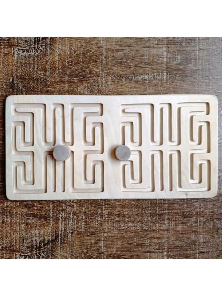 Межполушарная доска мини - деревянный лабиринт