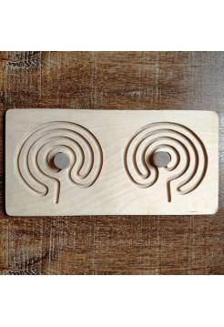 Межполушарная доска мини - деревянный лабиринт (мозг)