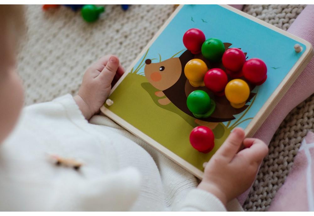 Игра Умный ежик магазин, варианты игр с деревянными игрушками