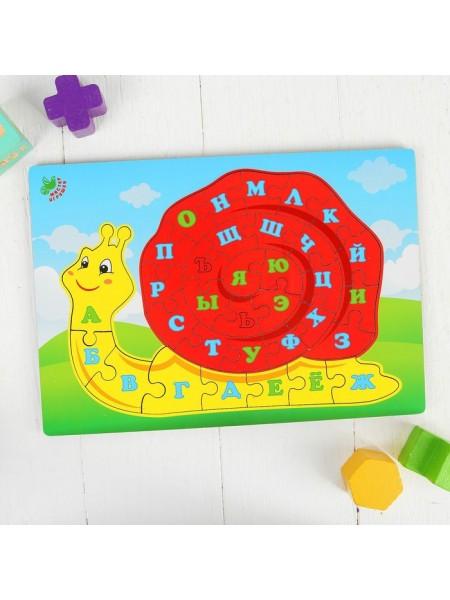 Рамка-вкладыш Улитка. Алфавит Мастер игрушек IG0184