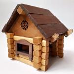 Деревянный конструктор Изба, Томик 1-20, 39 деталей