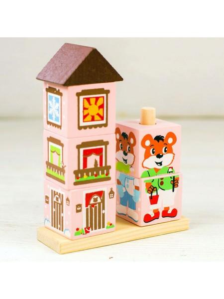 Кубики на палочке Мишка, Томик 4545-3