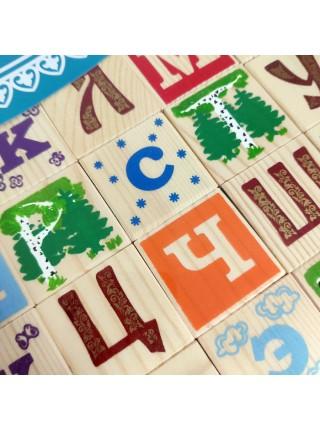 Кубики Занимательные буквы 42 штуки, Томик 1111-5