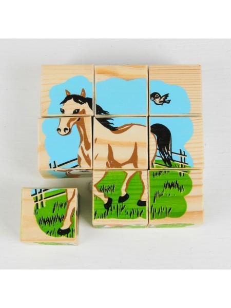 Кубики-пазлы Домашние животные (9шт.), Томик 4444-3