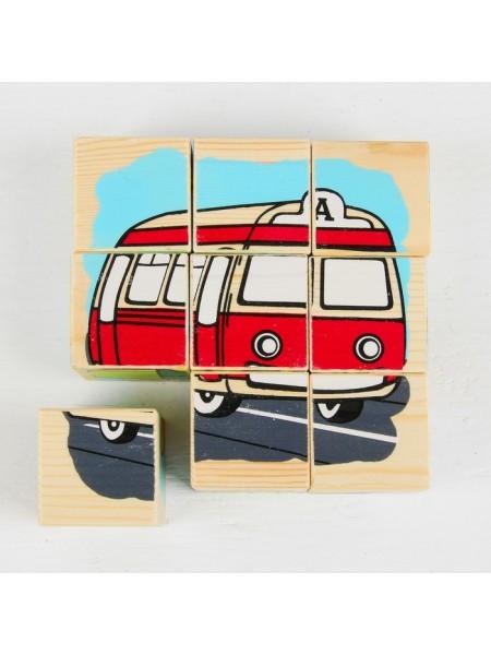 Кубики-пазлы Транспорт (9шт.), Томик 4444-1