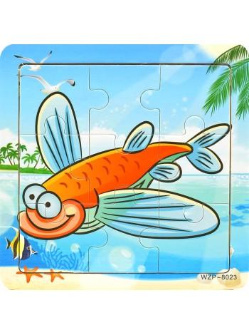 Деревянный Пазл Рыбка купить