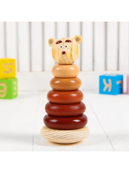 Пирамидка Медвежонок, 7 дет, Томик, 504