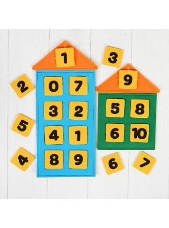 Числовые домики из фетра купить