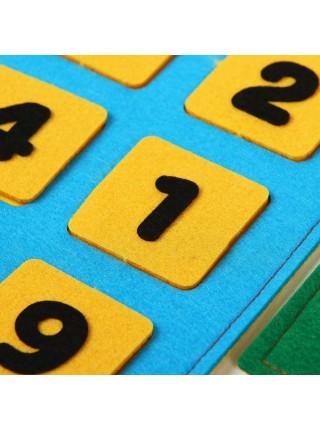 Числовые домики из фетра, Smile decor Ф262