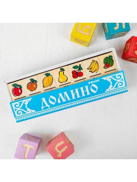 Настольная игра домино Фрукты-ягоды, Томик 5555-5