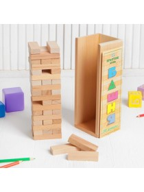 """Конструктор """"Башня"""" 54 детали, в буковой коробке, Престиж игрушка К0541"""