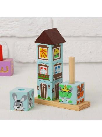 Кубики на палочке Зайка купить