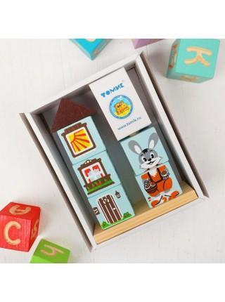 Кубики на палочке Зайка, Томик 4545-2
