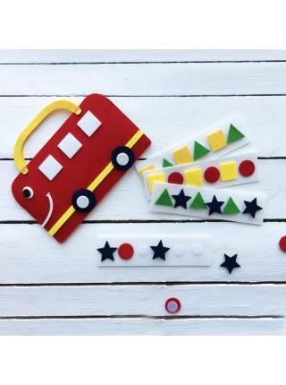 Сумка-игралка Автобус, Smile decor Ф251