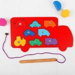 Игра с магнитами Машины, Smile Decor Р020
