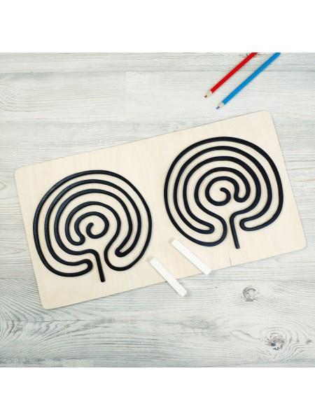 Графомоторные трафареты - Доска тренажер для письма (Грифельный трафарет Мозг), Сенсорика