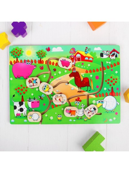 Лабиринт Весёлая ферма Головоломка Мастер игрушек IG0185
