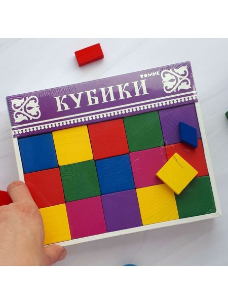 Кубики Цветные 20шт. Томик 2323