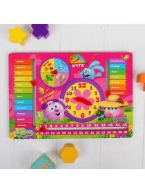 Бизиборд Обучающая доска «Часы: Учимся со Смешариками» Мастер игрушек IG0245