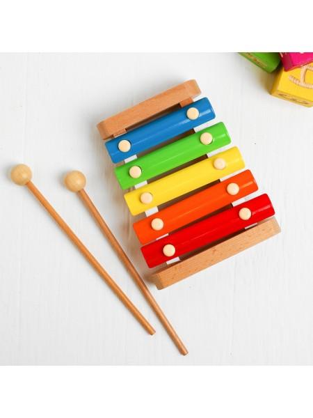 Ксилофон - музыкальный инструмент, 5 тонов LL149 Lucy&Leo