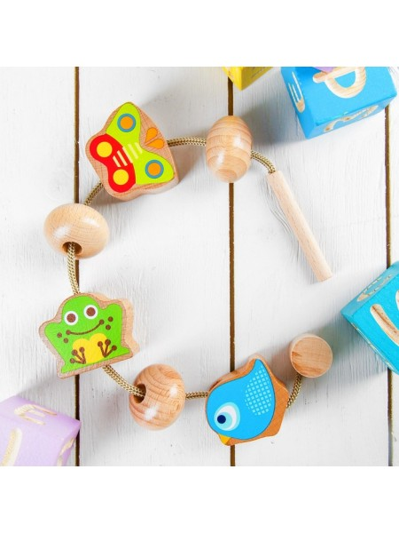 Шнуровка Животные, Мир деревянных игрушек