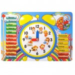 """Обучающая доска """"Часы. Распорядок дня"""" Мастер игрушек IG0014"""