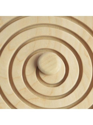 Межполушарная доска - деревянный лабиринт (круг)