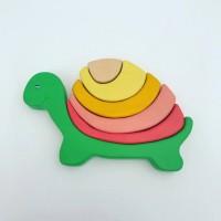 Пирамидка балансир деревянная черепашка