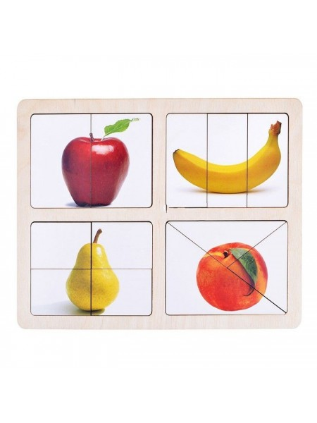 Дидактическая игра разрезные картинки Фрукты-1