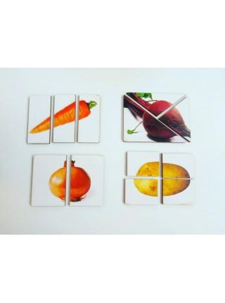 Дидактическая игра разрезные картинки Овощи-2