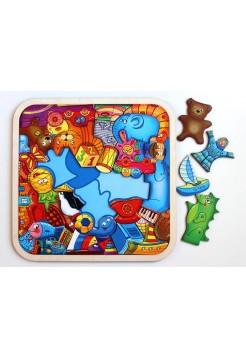 Пазл - головоломка Игрушки, 42 - элемента, Smile Decor, П049