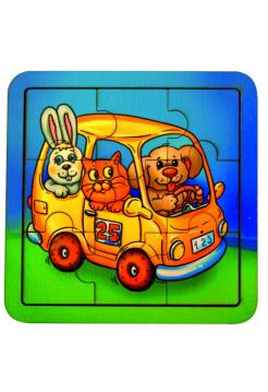 Пазл Автобус, 9 элементов