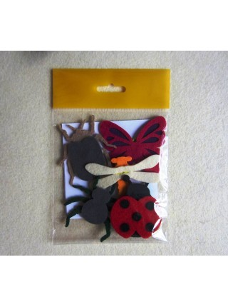 Пальчиковые игрушки Насекомые из фетра
