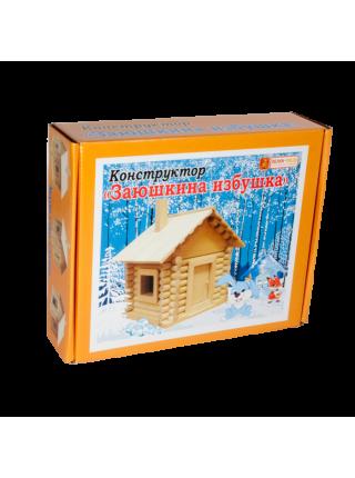 """Деревянный конструктор """"Сказки"""" - Заюшкина избушка, 89 деталей"""