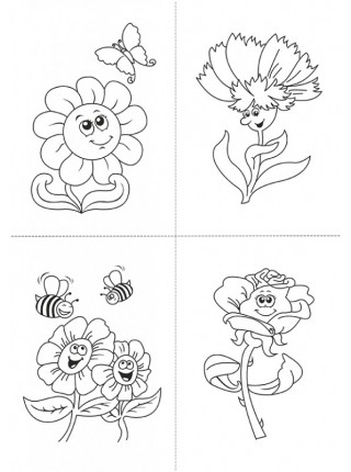"""Набор для росписи по дереву - (набор для творчества) """"Мастерская художника"""" - Веселые цветочки"""
