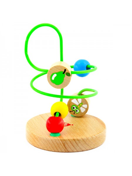 Лабиринт № 5 - развивающая деревянная игрушка
