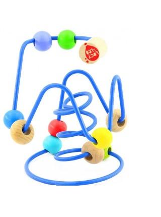 Лабиринт № 6 - развивающая деревянная игрушка