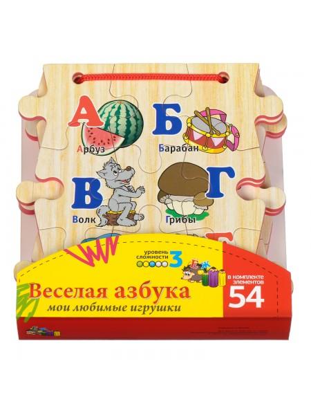 """Книжка-пазл """"Алфавит"""", 54 элемента МДИ 746"""
